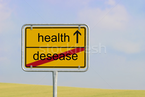sign desease health Stock photo © w20er