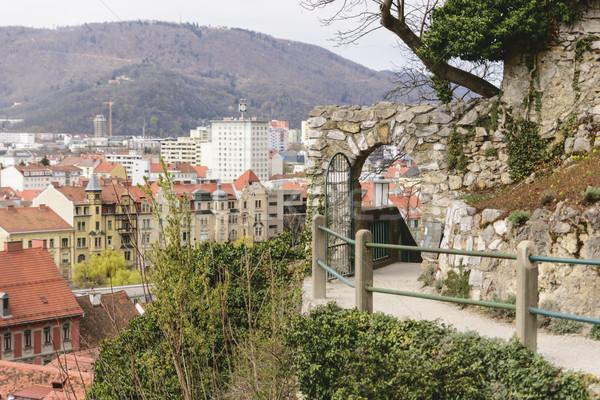 Cityscape Graz Autriche image ville rue Photo stock © w20er