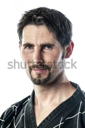 Retrato artes marciais mestre risonho homem barba Foto stock © w20er