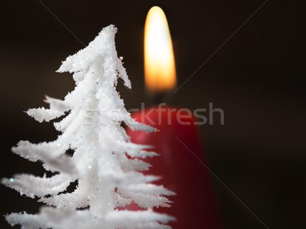 Avènement couronne détail coup brûlant rouge Photo stock © w20er