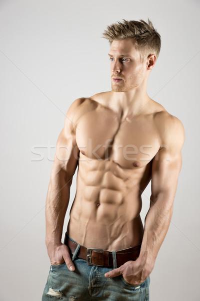 Fiatal testművészet atléta kút képzett pektorális Stock fotó © w20er