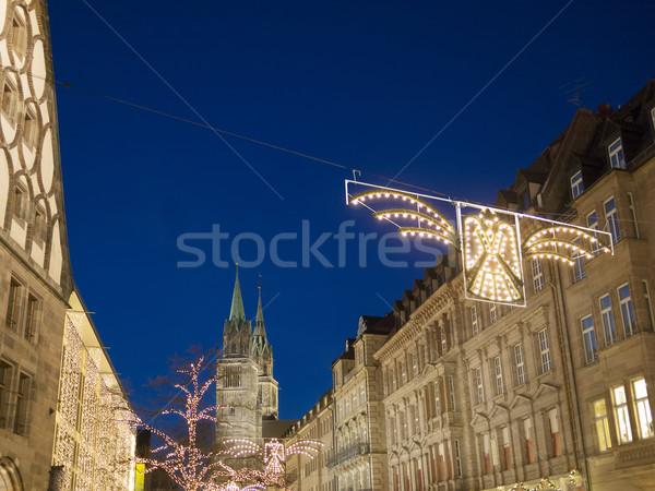 Night scene Nuremberg Stock photo © w20er