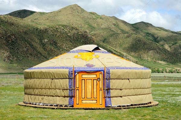 Stock photo: Mongolia yurt