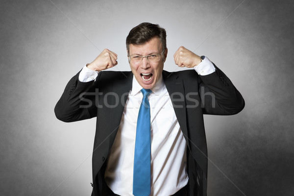 Crying business man Stock photo © w20er