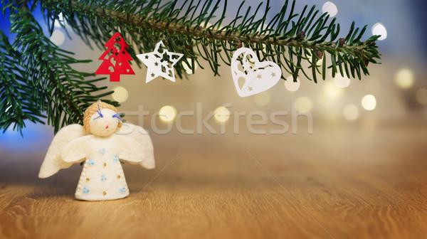 ág angyal bokeh fények kép fa Stock fotó © w20er