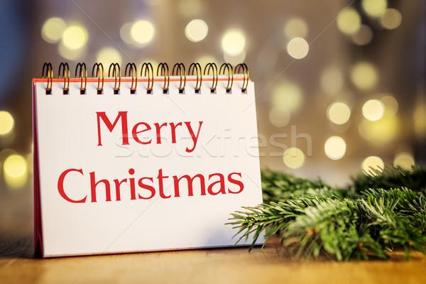 ring binder Merry Christmas Stock photo © w20er
