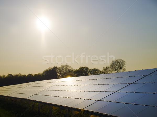 Solar Panels on sunset Stock photo © w20er