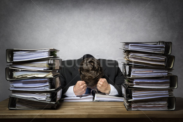 Overworked frustrated businessman Stock photo © w20er