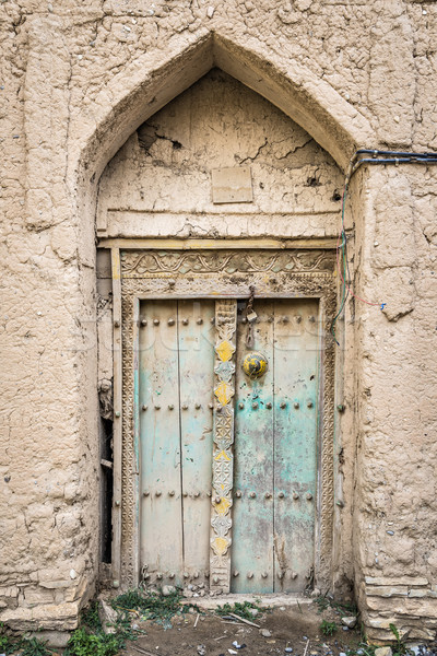 Drzwi błoto obraz Oman budynku charakter Zdjęcia stock © w20er