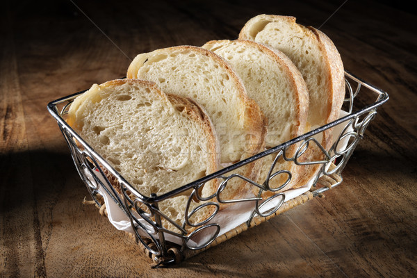 basket with baguette Stock photo © w20er