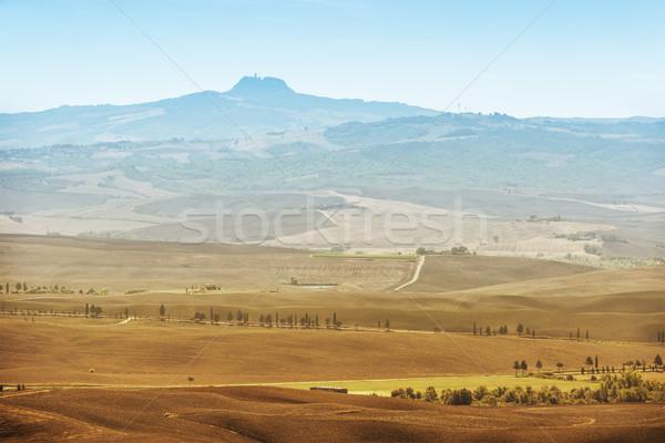 Volkan Toskana görmek form kasaba İtalya Stok fotoğraf © w20er
