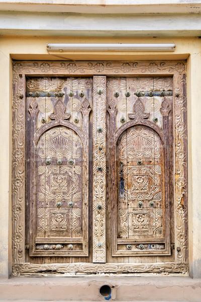 Porte oasis anciens bâtiment design fond Photo stock © w20er
