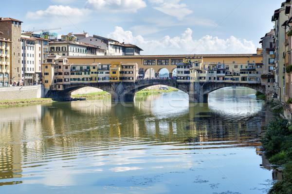FLORENCE image rivière Italie automne Photo stock © w20er