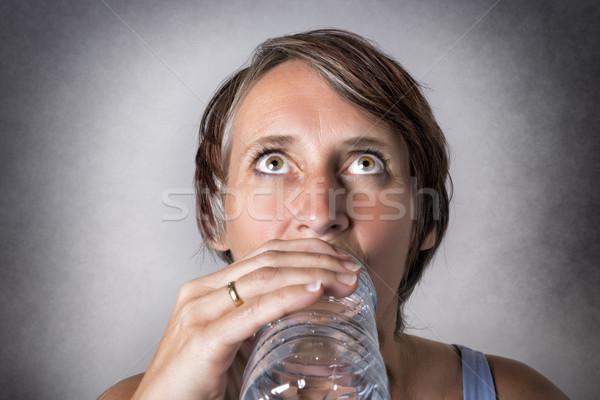 Pitnej obraz w średnim wieku przystojny kobieta Zdjęcia stock © w20er