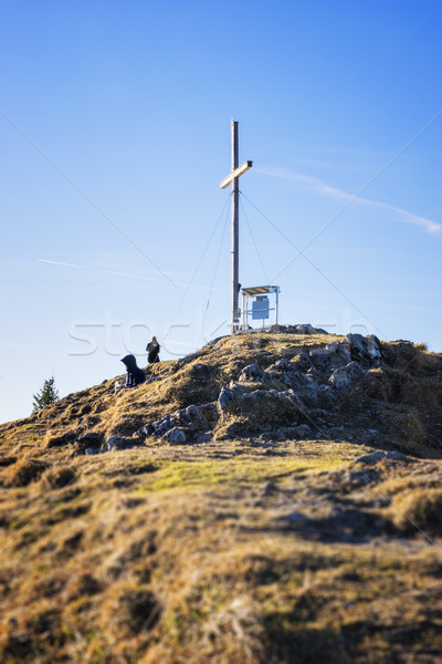 Summit of Jochberg Stock photo © w20er