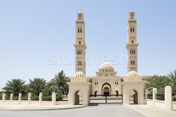 Meczet Oman zdjęcie Błękitne niebo niebo miasta Zdjęcia stock © w20er