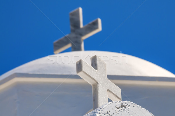 Cross on Santorini Stock photo © w20er
