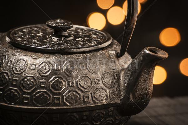 Cast iron teapot Stock photo © w20er