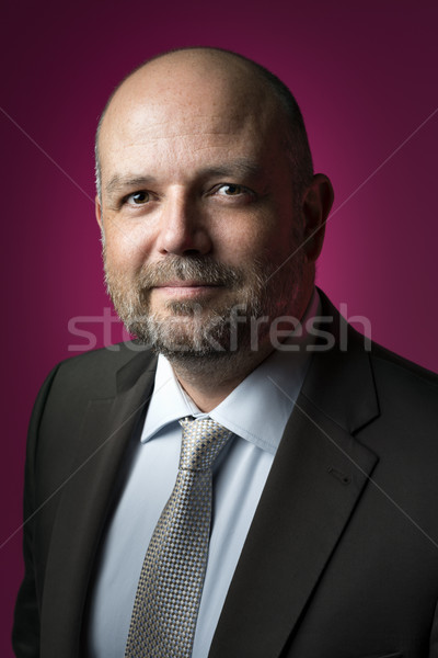 Kellemes üzletember üzletember sötét öltöny nyakkendő Stock fotó © w20er