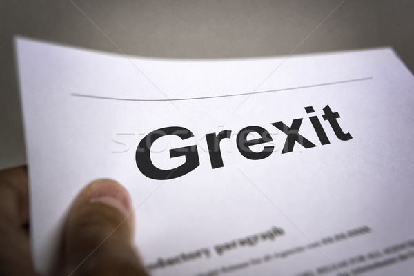 Treaty with title Grexit Stock photo © w20er