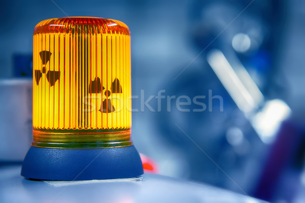 Warning lamp radioactive radiation Stock photo © w20er