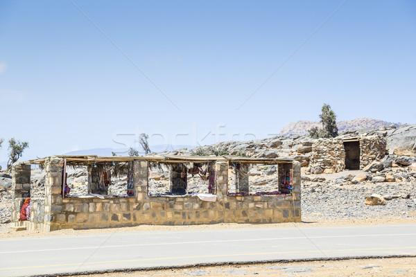 Bedouin kiosk Jebel Shams Stock photo © w20er