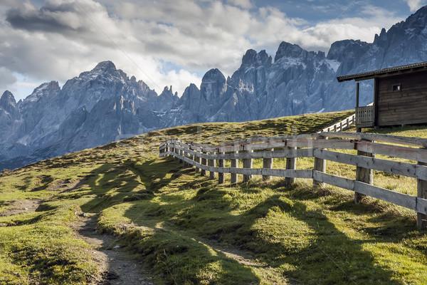 Evening scenery South Tirol Stock photo © w20er