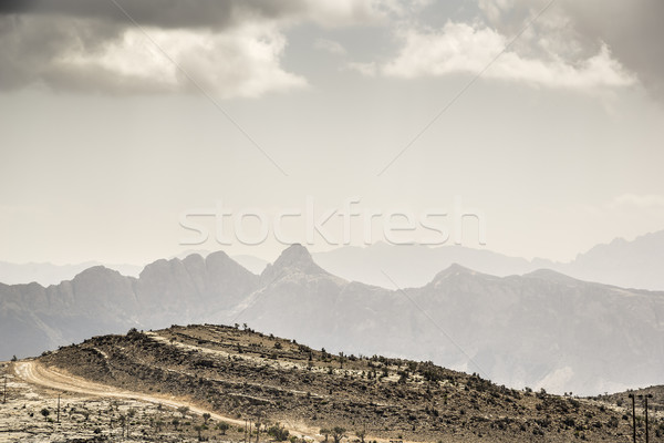 Panorama immagine montagna strada natura viaggio Foto d'archivio © w20er