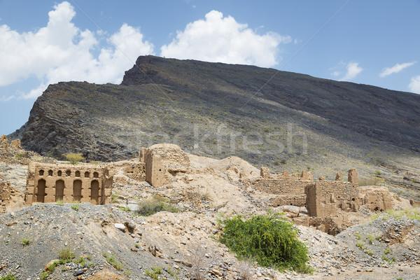 Rovine Oman immagine storico città Medio Oriente Foto d'archivio © w20er