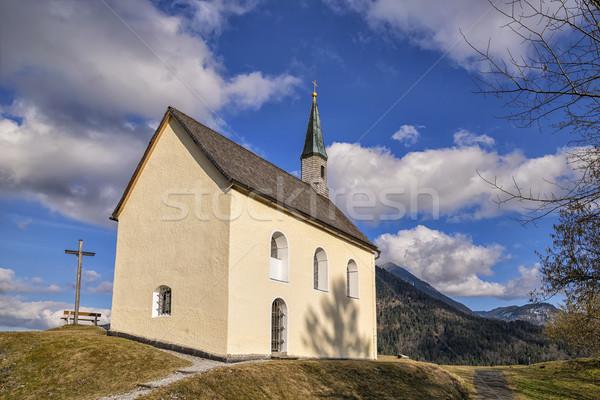 Chapel in Bavarian Alps Stock photo © w20er
