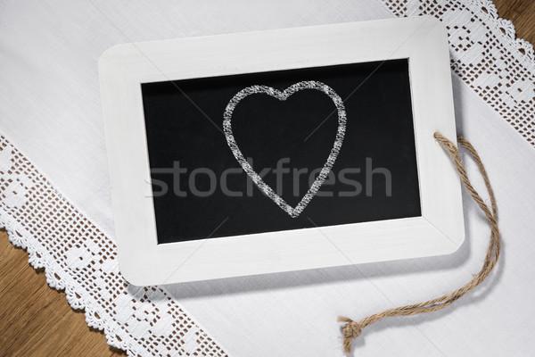 heart slate blackboard Stock photo © w20er