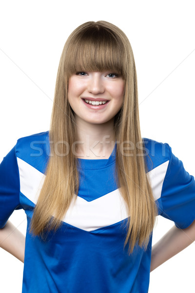 Girl in football shirt Stock photo © w20er