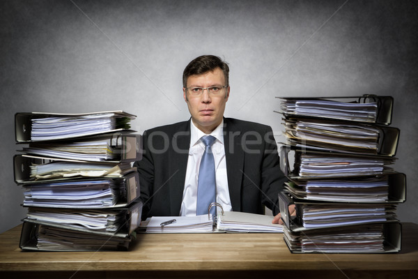 Overworked depressed businessman Stock photo © w20er