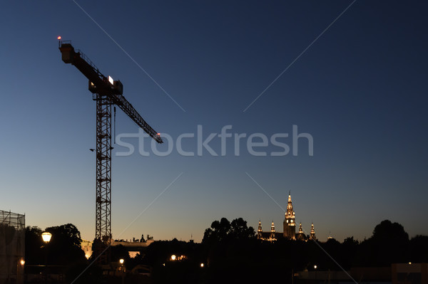 Crante with townhall Vienna Stock photo © w20er