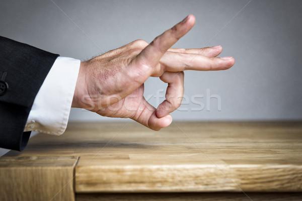 Hombre dedo hombre de negocios algo dinero Foto stock © w20er