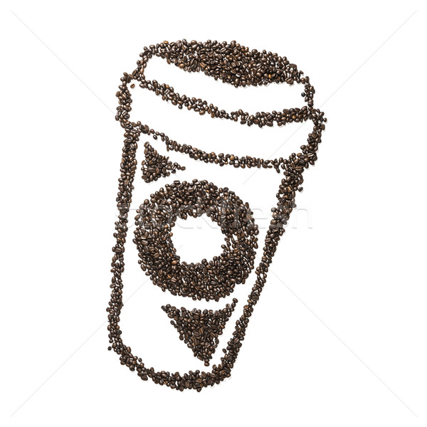 Coffee Bean To Go Cup Stock photo © w20er