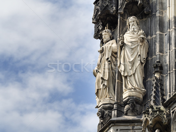 Statue Cathedral Aachen Stock photo © w20er