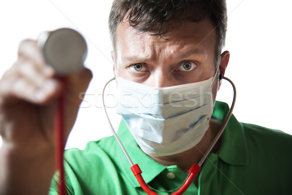 Desperate Doctor with stethoscope Stock photo © w20er