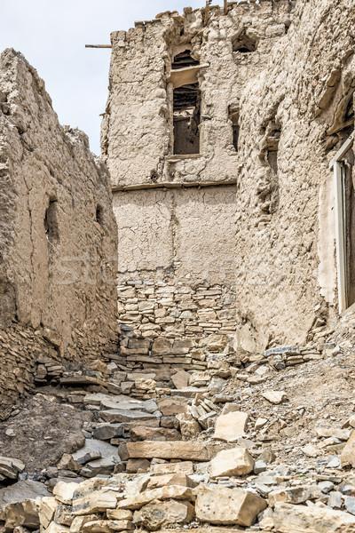 ören çamur görüntü Umman gökyüzü manzara Stok fotoğraf © w20er