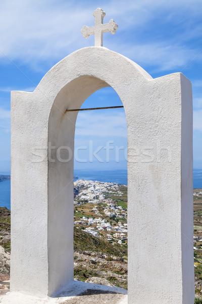 арки крест пейзаж Санторини Греция здании Сток-фото © w20er
