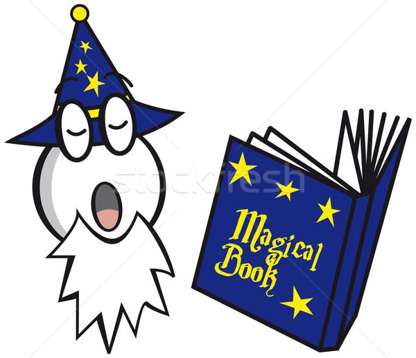 魔法 図書 ベクトル 画像 マジシャン オフィス ストックフォト © w20er