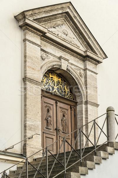 Entrance of a church Stock photo © w20er