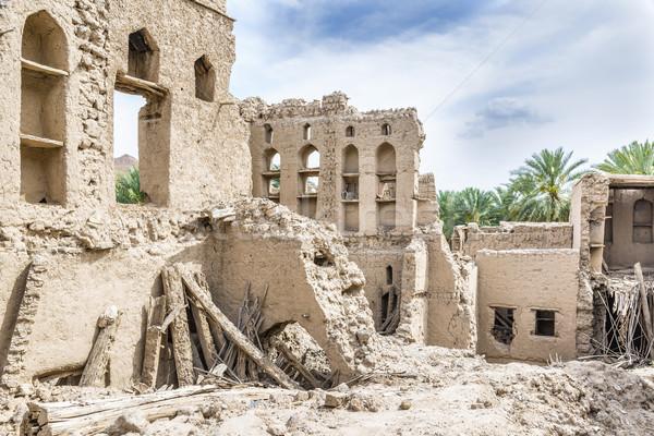 Birkat al mud ruins Stock photo © w20er