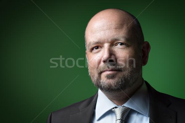 Keyifli iş adamı görüntü işadamı kel kafa Stok fotoğraf © w20er