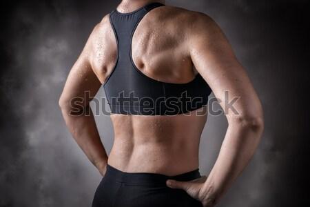 Maakt een reservekopie foto vrouw lichaam Stockfoto © w20er