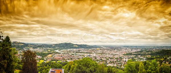 Dramatic Linz Panorama Stock photo © w20er