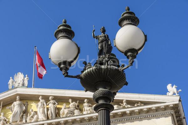 Straat lantaarns Wenen huizen Oostenrijk stad Stockfoto © w20er