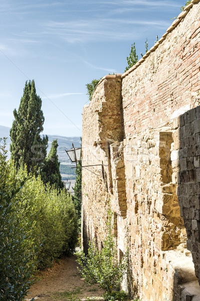 Stock photo: Wall in Pienza