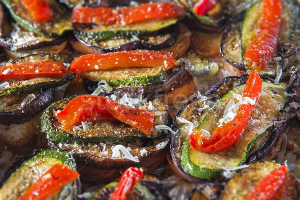 Bruschetta pepper courgette Stock photo © w20er