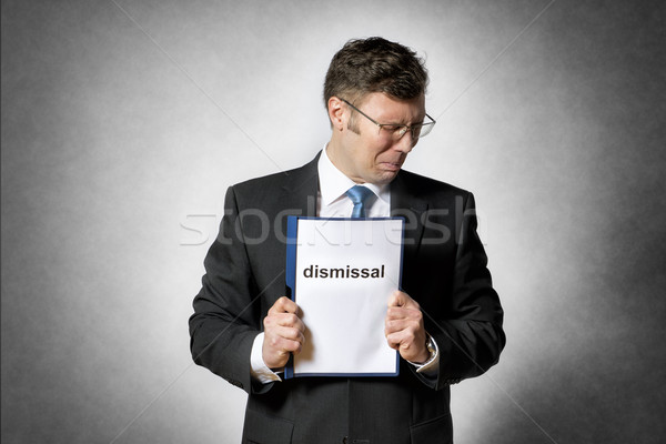 Frustrated fired business man Stock photo © w20er